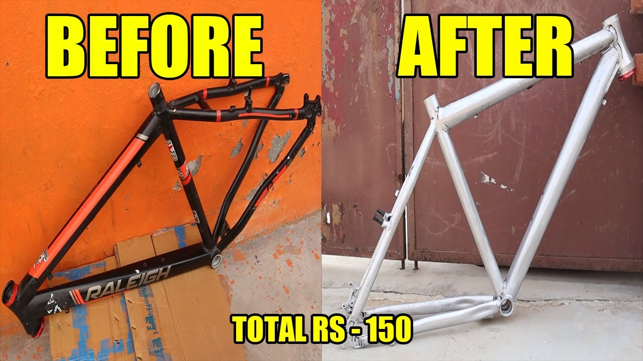 How To REMOVE CYCLE FRAME PAINT Easily at HOME | MTB Paint Remove  | Cycle Rider Roy