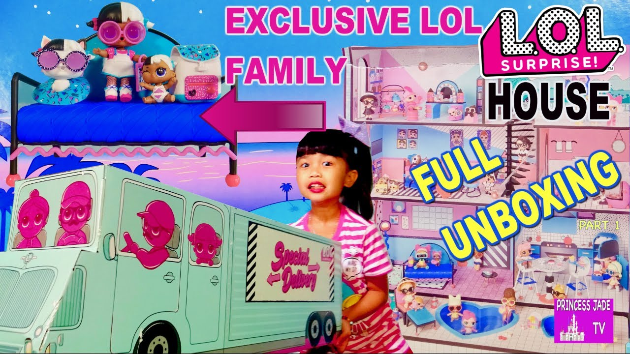 New Lol Surprise Doll House Furniture Exclusive Dolls Moving Day