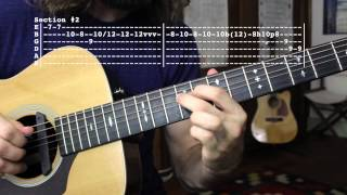 "Doc Watson ""Summertime"" Intro Guitar Solo Lesson"