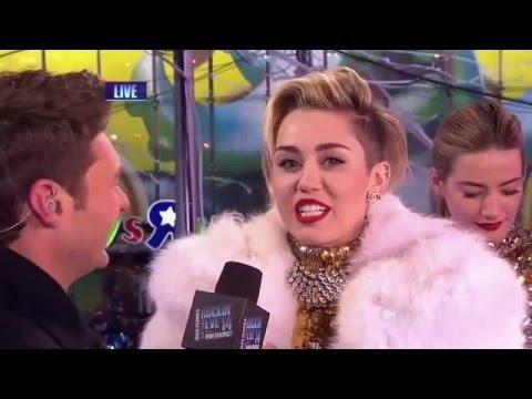 Ryan Seacrest - Miley Cyrus New Years Eve