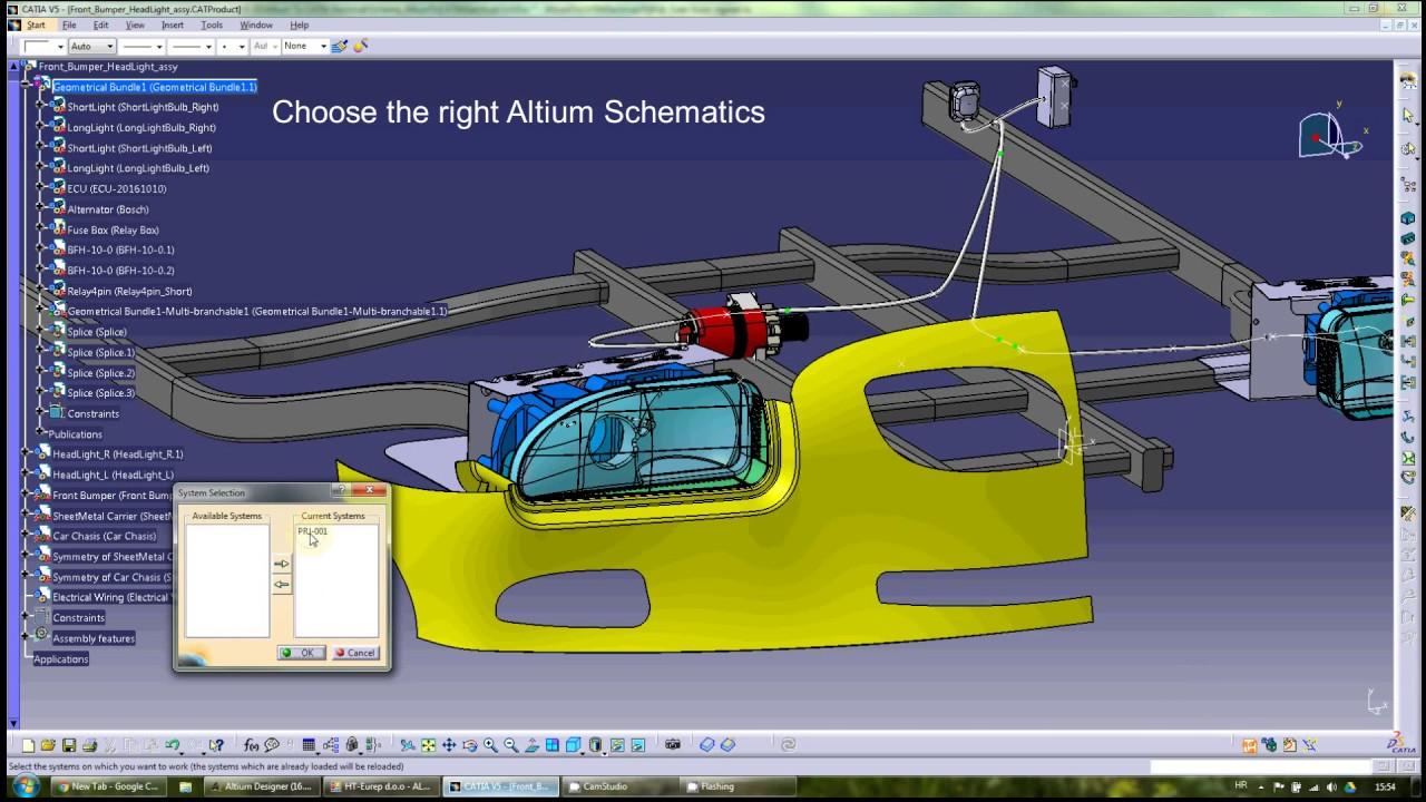 altium designer schematics to catia electrical translator tool for wire harness [ 1280 x 720 Pixel ]