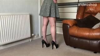 In stockings masturbating Mature