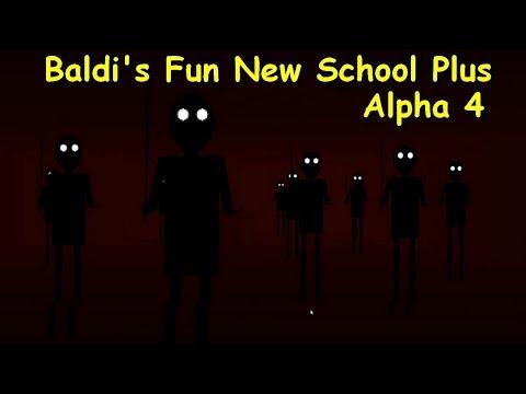 All Floors + ENDING   Baldi's Fun New School Plus™ Alpha 4 - Baldi's Basics 1.3.2 Decompiled Mod