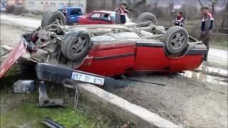 Türkeli'de otomobil devrildi: 1 yaralı