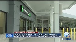 Travelers returning rental cars early ahead of storm