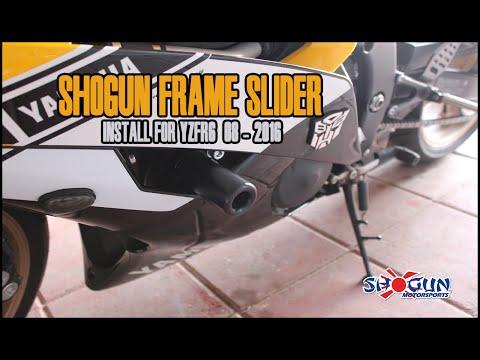 Shogun No-Cut Frame Slider Install for YZF-R6 ( 08 - 2016 ) - YouTube