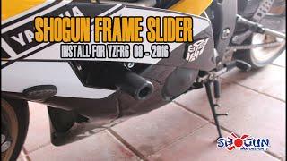 Gambar cover Shogun No-Cut Frame Slider Install for YZF-R6 ( 08 - 2016 )