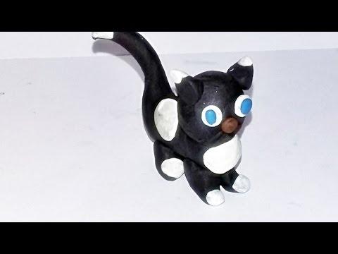 Kotek z plasteliny - lepimy :)