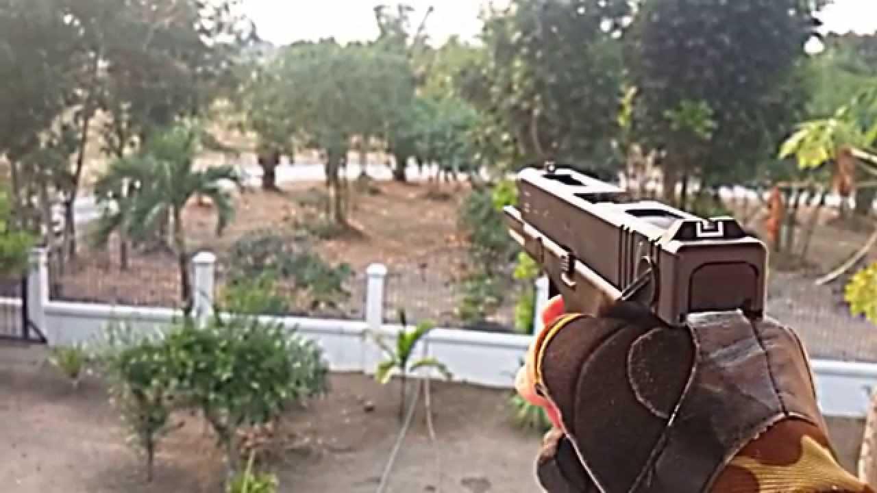 Airsoft WE Glock 18C (Slow Motion) - YouTube