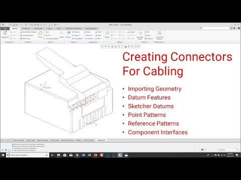 Creo Parametric - Connectors for Cabling [Tutorial]