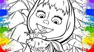 Masha eo Urso  peixinho dourado Video educacional de colorir desenhos animados Learn Cartoons