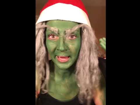 Grinch Makeup Tutorial after Special Treats