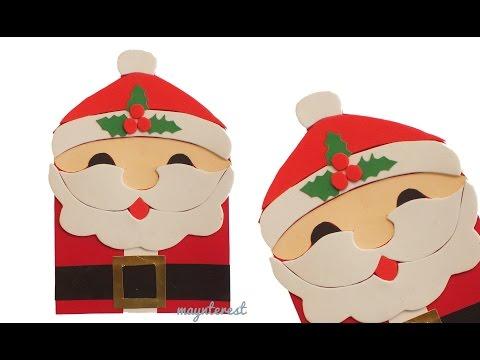 Manualidades navidad tarjeta de felicitaci n navide a de - Hacer una tarjeta navidena ...