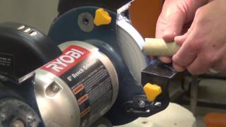 polishing on the buffing wheel