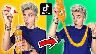 "CHECKED OUT VIRAL FOOD LIFE HACKS FROM TIK TOK …. **I""M SHOCKED**"