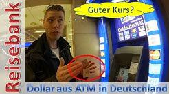 Euro in Dollar wechseln? Lösung: Geldautomat!
