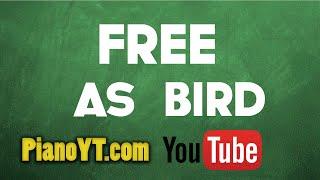 Free As A Bird The Beatles Piano Tutorial