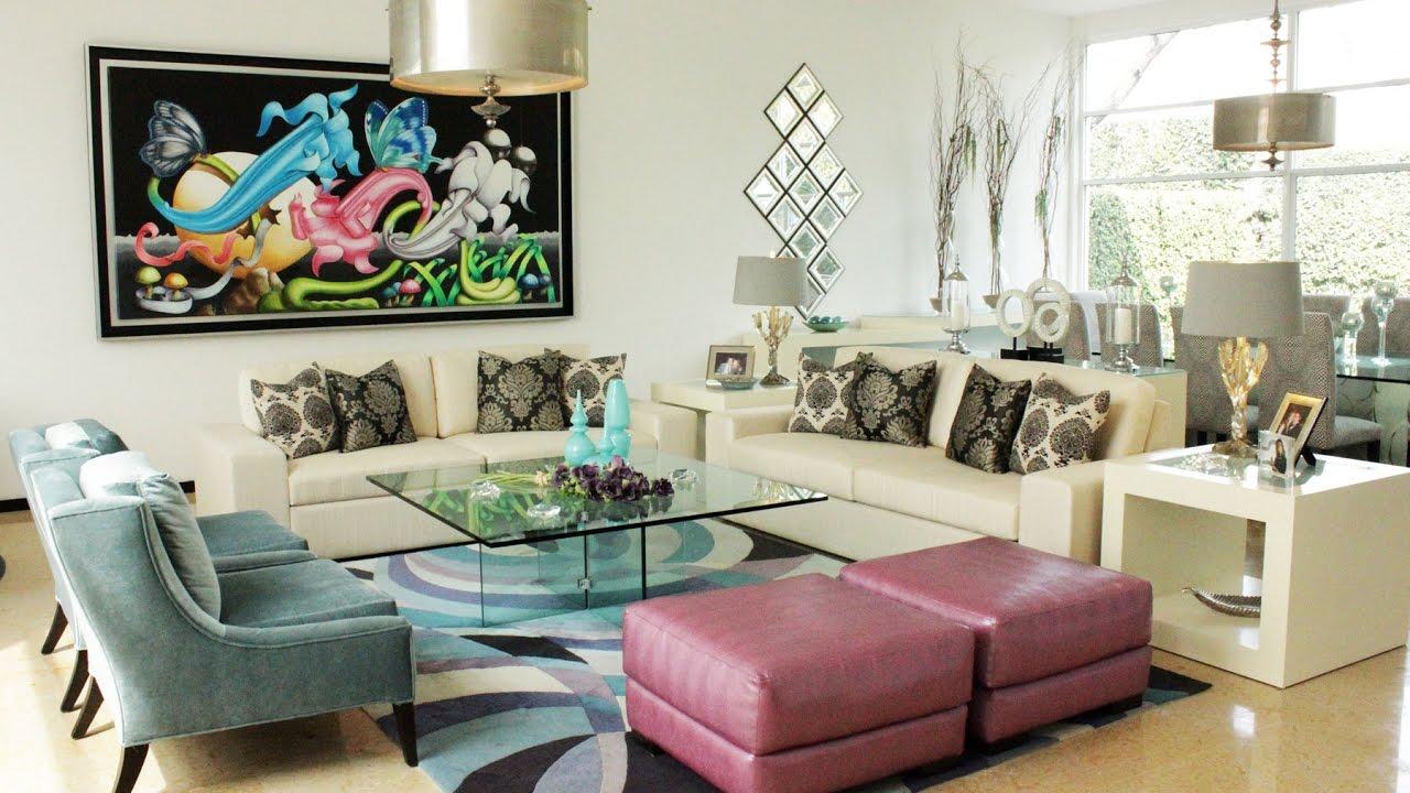 Tour de Casa Moderna por dentro/Como decorar estilo ... on Interiores De Casas Modernas  id=79334