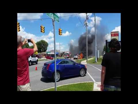 Vehicle crash and fire in Saginaw Township