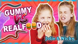 EXTREME GUMMY VS REAL FOOD CHALLENGE!!! IEHW!