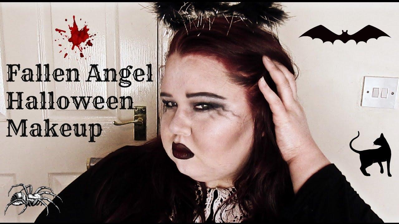Fallen Angel Halloween Makeup - YouTube