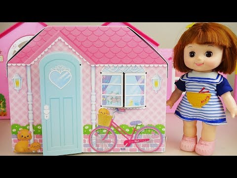 Ba doll and toys house and camping car toy play