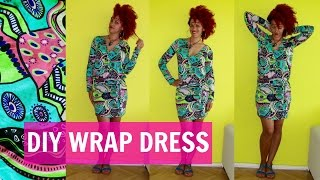 DIY Wrap Dress + How To Sew Sleeves | DIY Clothes