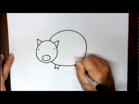 How To Draw Pig Step By Step Easy Cartoon Drawing Tutorial