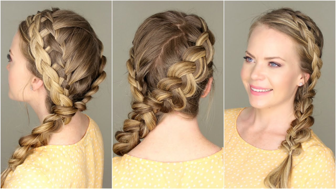 homecoming hairstyles faviana waterfall side braid