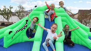 First SUMMER FAMILY BBQ BounceHouse Red Rover and family games