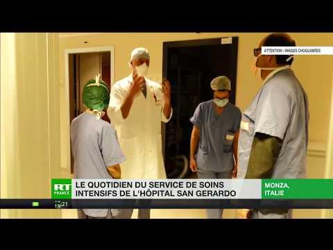 Italie: le quotidien du service de soins intensifs de l'hôpital San Gerardo