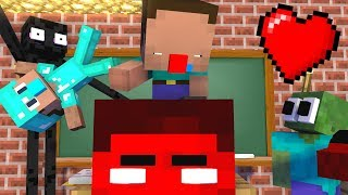 Monster School : Baby NOOB and PRO vs Monsters - Minecraft Animation