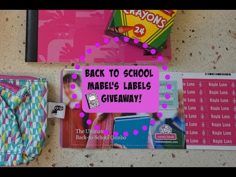 Mabel's Labels Back To School