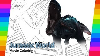 Jurassic World Movie drawing | How To Draw dinosaur | drawing and coloring pages
