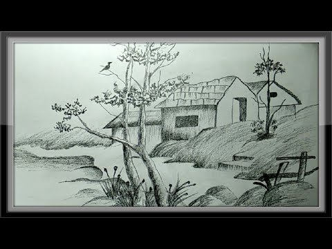 easy-pictures-to-draw---landscape-drawing-nature-in-pencil