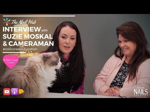 "Interview with nail sensation Suzie Moskal & ""Cameraman"" @nailcareereducation"