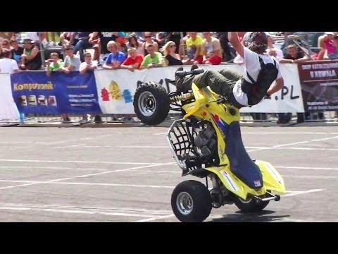 Quad Stunt tricks : Atv suzuki LTZ 400 kawasaki kfx 400 : Quads stunts bike show na quadach