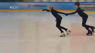 Тренировка Алисы Овсянкиной и Федора Орехова