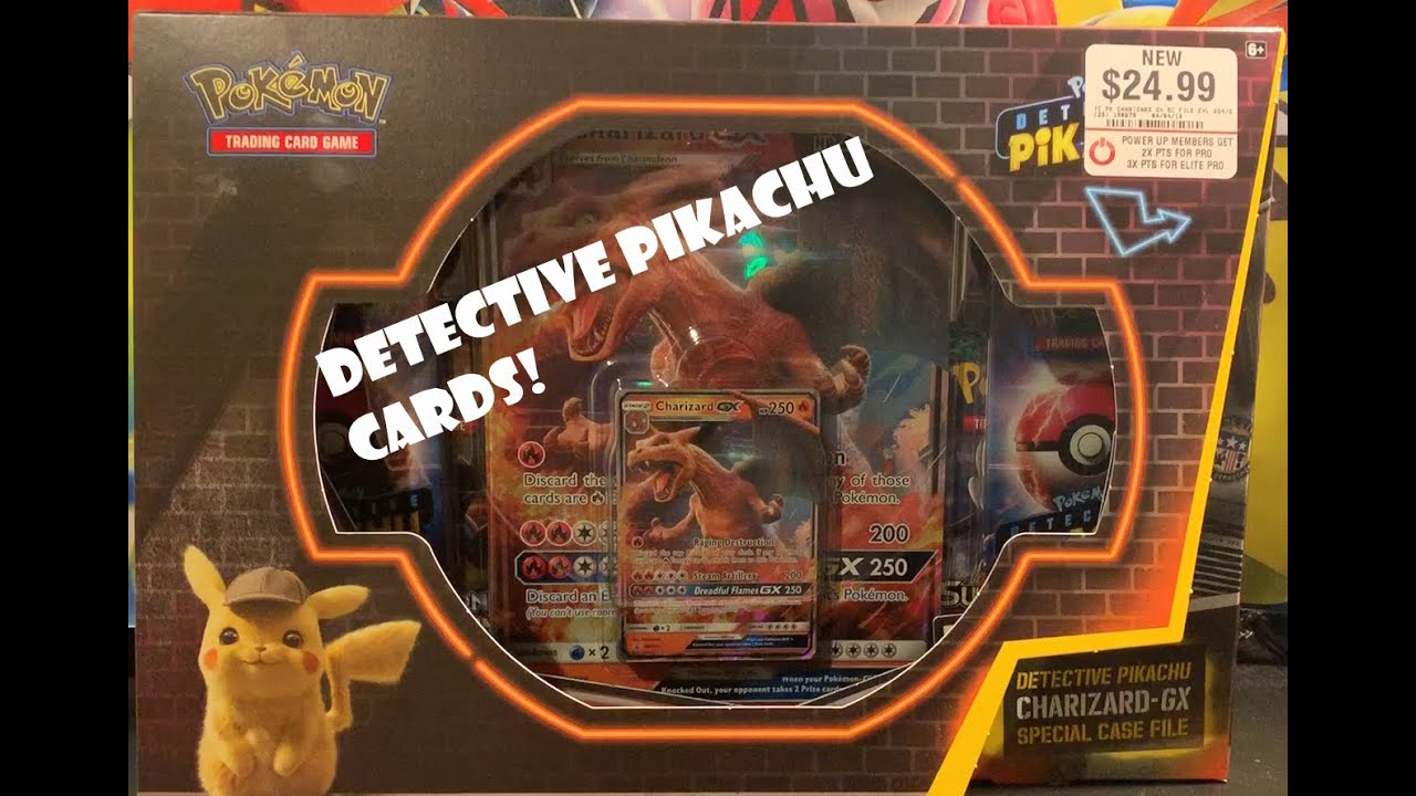 Detective Pikachu Cards Opening A Charizard Gx Case File And A