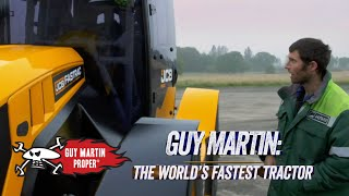 Guy shows off his record breaking tractor   Guy Martin Proper