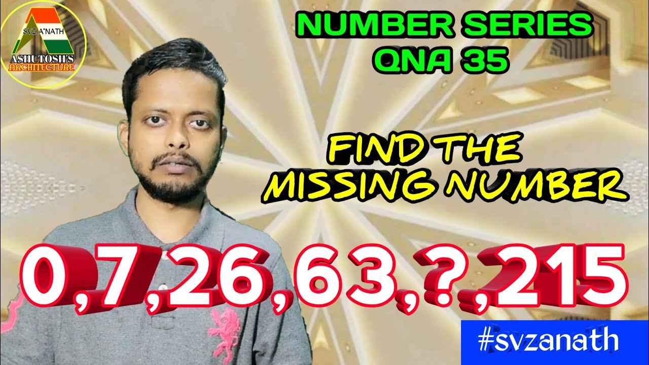 Download 0,7,26,63,?,215 | In Hindi | Number Series QnA 35 | Find The Missing Number | SVZ A NATH