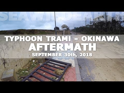 Typhoon Trami, Okinawa: The Aftermath