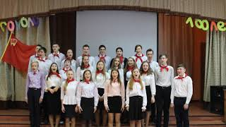 """Выступление на конкурсе """"День Песни-2018"""" 9б"""