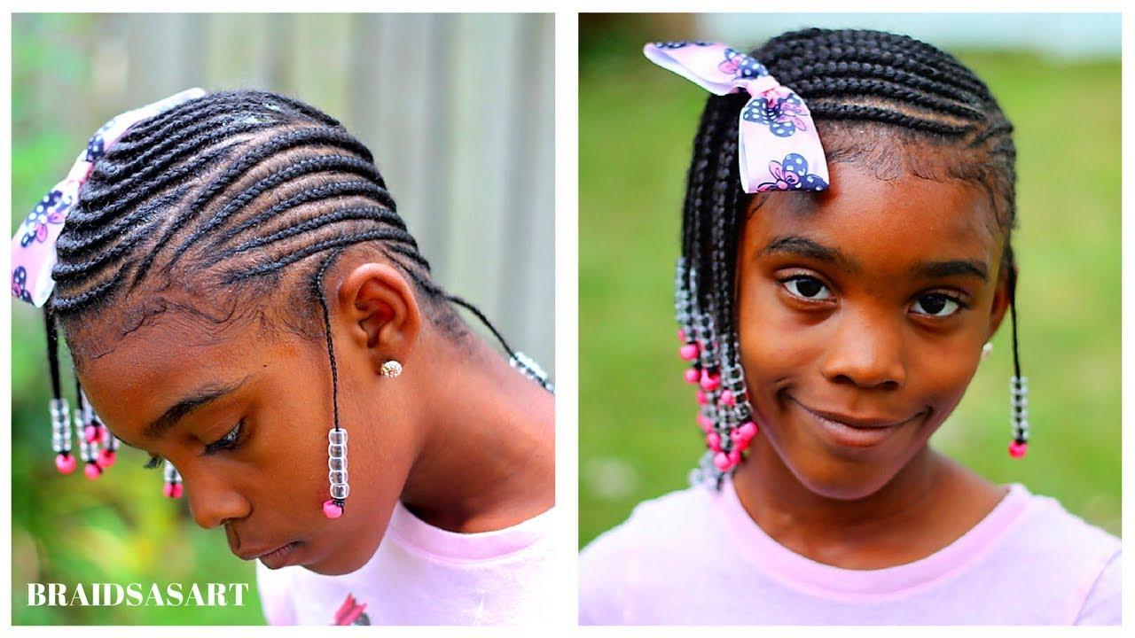 Lemonade Braids For Girls 2 In 1 Hairstyle Youtube