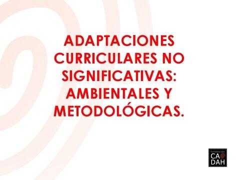 Adaptaciones Curriculares No Significativas Ambientales Y