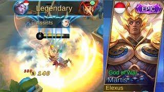 Gambar cover Martis Epic Skin God Of War (Best Skin) Full Legendary Gameplay - Mobile Legends