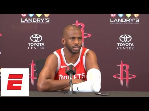 [FULL] Chris Paul 2018 press conference: On Melo, Game 7 vs Warriors, more | NBA Media Day | ESPN