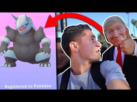 DONALD TRUMP EVOLVES TO MY POKÉDEX AGGRON in Pokémon Go!