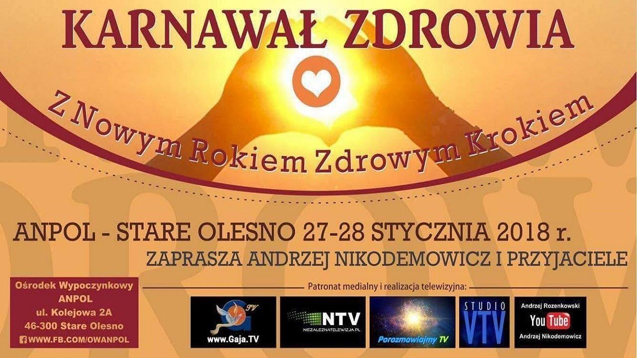 NOWE WYDARZENIE 2018 – KARNAWAŁ ZDROWIA – Andrzej Nikodemowicz – 11.12.2017 r.