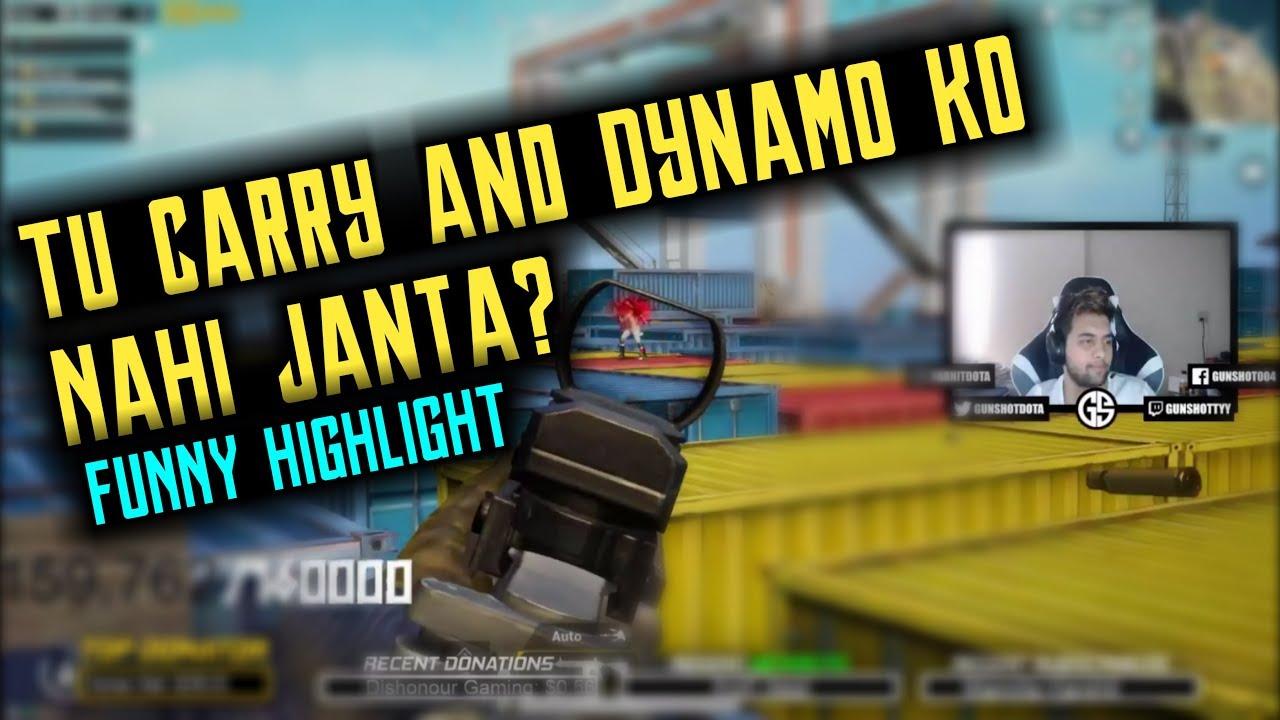 Do You Know Dynamo gaming & Carryminati ? Me - No| Funny Talk With Random Player | PubgM highlig